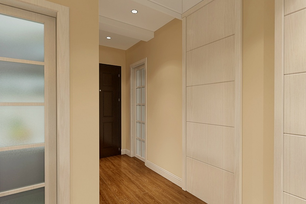 此户型南北通透,比较整齐,唯独过道浪费空间大,储藏空间小,方案对主卧进门的过道进行了改动,使布局更加合理。